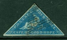 SG 2 cape of Good hope 4d Deep Blue fine used full margins CAT £275
