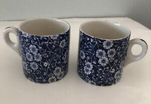 Two Vintage Staffordshire Calico Mugs