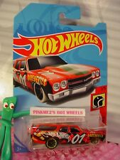 '70 CHEVELLE SS Station WAGON✰Red/Gray;mc5✰DAREDEVILS✰2018 i Hot Wheels case A/B