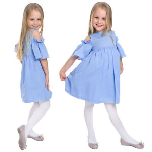 Girls Thin Breathable White Tights Everyday Casual Special Occasion Plain 9003