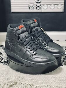 "Size 12 - Jordan 1 Retro High OG ""Triple Black"" (2017) - Premium Black Leather"