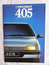 Peugeot 405 MI 16 - Prospekt Brochure 1988