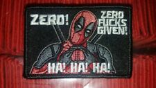 Deadpool zero fu*ks given Morale Patch Tad Gear Motus Marsec Tactica Outfitters