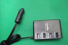 Rocketek 4x USB + 12V 24V Port Car Charger Adapter Socket 4 iPhone Samsung NOOK