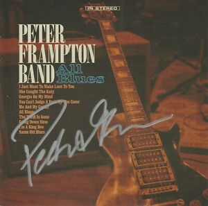 SIGNED - PETER FRAMPTON BAND - ALL BLUES  - CD - BRAND NEW