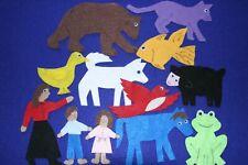 """Brown Bear, Brown Bear"" children felt/ flannel board fun set"