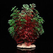 Red Green Fake Plastic Water Plants Coconut Tree for Fish Tank Aquarium Ornament