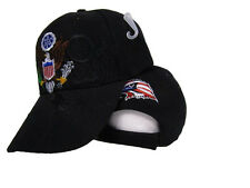 United States President Presidential Seal Black Shadow Embroidered Cap Hat