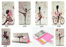 Fashion Pretty Girl Flip Bling Diamond PU Leather Wallet Case Cover For Phone