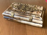 Vintage Camel Bone and Brass Trinket - Jewellery Box Handmade in India