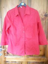 NWT E-VIE RED BLOUSE 14 shirt top