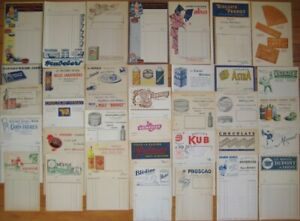 Color Letterhead/Billhead 1930s COLLECTION OF 35 DIFFERENT - French