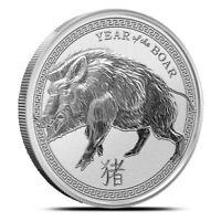 2019 1 oz .999 Fine Silver Round - Lunar Year of the Boar - Pig - IN-STOCK!!
