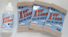 NES Game Cleaner Lot -1UP Card- Nintendo Cartridge Cleaning Kit x6 Cards & Fluid