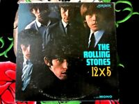 ROLLING STONES VINYL LP 12x5 LONDON RED LABEL MONO WITH PRODUCER CREDIT. INSERT