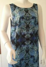 Ladies Forever New size 16 summer festival formal party dress floral blue black
