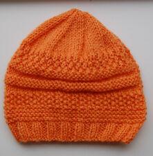 Hand-knitted Baby Hat Pumpkin 3-6 months