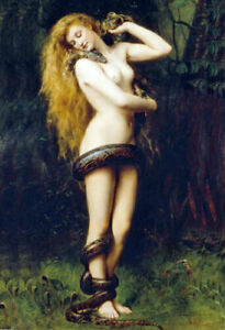 LILITH * JOHN COLLIER  * LARGE A3 SIZE QUALITY CANVAS  PRINT