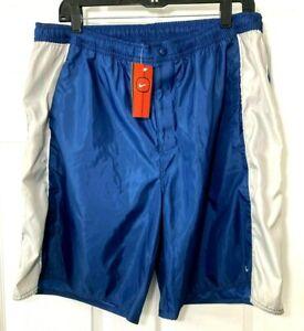 NIKE Mens Size XXL Lined Board Shorts Swim Trunks Blue Gray Dallas Cowboy Colors