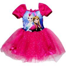 SUPER SÜSSE ANNA U. ELSA KLEIDER, pink mit GLITTER Gr.92,98,104,110 NEUWARE!!!