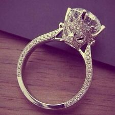 1.70 Natural Round Cut Vintage 3 Sided Pave Diamond Engagement Ring