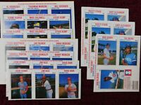27ASS'T MLBB PLAYERS on 9 PANELS with 3 HALL of FAMERS -1979 HOSTESS -SOME DUPES