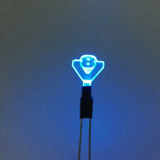 V8 Logo LED Light Decor Lamp For 1/14 Tamiya SCANIA R620 56352 Man Actros RC Car