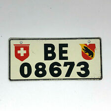Vintage Mini Bicycle License Plate Wheaties General Mills - Switzerland 1953