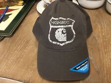 NWT! RARE! CARTHARTT Highway Baseball Hat/Cap Gray One Size Fits All EC!