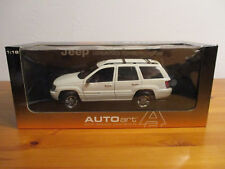 (Gor) 1:18 AutoArt Jeep Grand Cherokee 1999 White NEW ORIGINAL PACKAGE