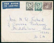 MayfairStamps Belgium 1967 to Middleboro Massachusetts Air Mail Cover wwo3335