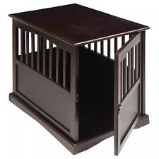 """24""""H Dog Kennel Wood Bed Crate Pet Cage Indoor Wooden Furniture End Table NEW"""