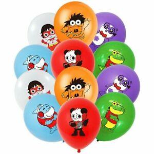 "10 X 12"" RYANS Multi Colour Latex Printed Balloons Birthday Party, World"