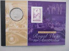 2006 50 Cent Royal Visit Queen Elizabeth II Prestige Booklet Coin and Stamp