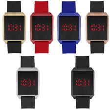 Touch Screen LED Digital Silicone Sport Wrist Watch Women Men's Bracelet Watch