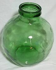 Beautiful Vintage  Large VIRESA Green Demijohn / Carboy