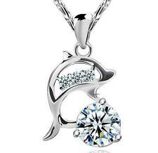Markenlose Modeschmuck-Halsketten & -Anhänger aus Stein mit Kristall