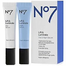 Boots No7 Lift & Luminate Day & Night Serum, 0.5 oz ( NEW IN BOX)