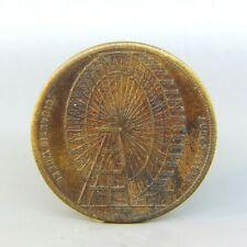 1898 Gigantic Ferris Wheel Earls Court London Medal