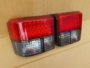 VW T4 Transporter Caravelle Camper Rear RED / CLEAR SMOKED LED Light Lamp units