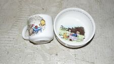 REED & BARTON DISNEY WINNIE THE POOH PORC. CHILDS TEA CUP AND BOWL SET