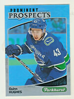2019-20 Upper Deck PARKHURST PROMINENT PROSPECTS QUINN HUGHES RC Rookie Canucks