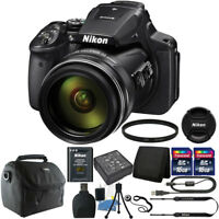 Nikon Coolpix P900 16.0 MP 83X Optical Zoom Compact Digital Camera 32GB Bundle