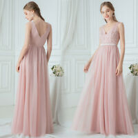 Ever-Pretty Women Double V-Neck Sleeveless Appliqued Bridesmaid Prom Dress Gowns