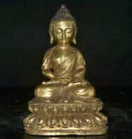 "6.4 ""bouddhisme Tibet cuivre doré Shakyamuni Sakyamuni Amitabha Bouddha Statue"