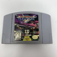 NFL Blitz N64 Game Cartridge (Nintendo 64, 1997) Authentic Tested Cleaned