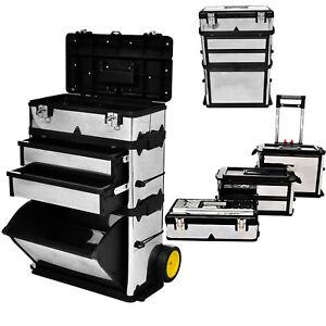 Werkzeugkasten Trolley Werkzeugkoffer Werkzeugtrolley Werkstattwagen mit Räder