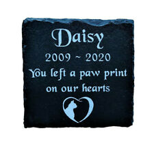 Personalised Engraved Pet Memorial Slate Stone Grave Marker Plaque Cat