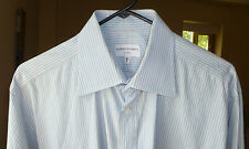 Alfred Dunhill London Pinstripe French Cuff Dress Shirt, Size 16 1/2 R