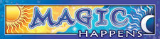 > MAGIC HAPPENS < Affirmation Bumper Sticker Decal Wiccan Pagan B01